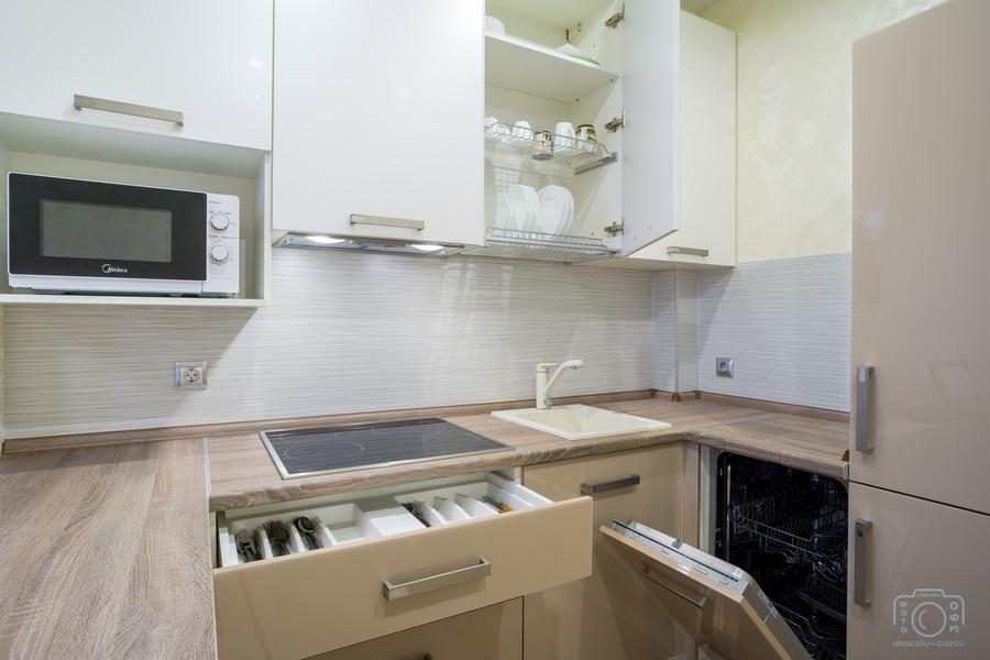 Бежевые кухни-Кухня из пластика «Модель 1»-фото7