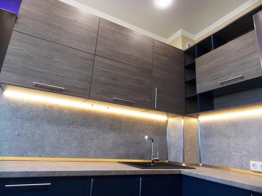 Встроенная кухня-Кухня МДФ в эмали «Модель 15»-фото3