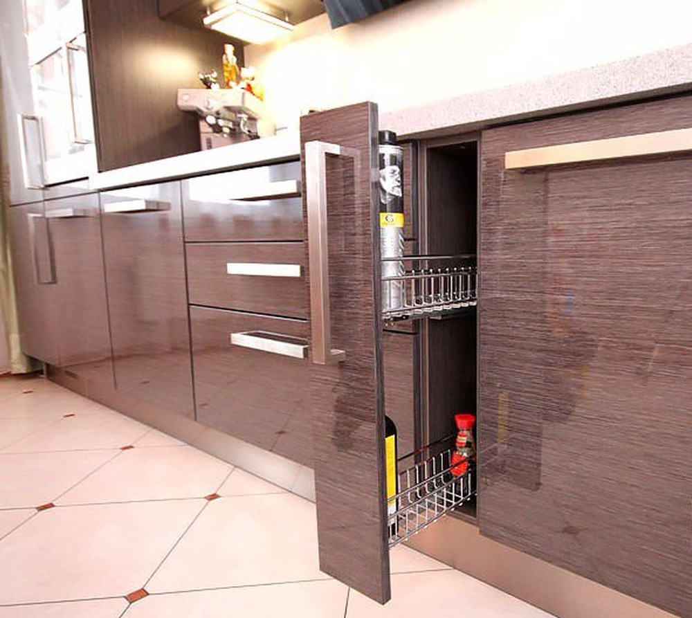 Встроенная кухня-Кухня МДФ в ПВХ «Модель 116»-фото2