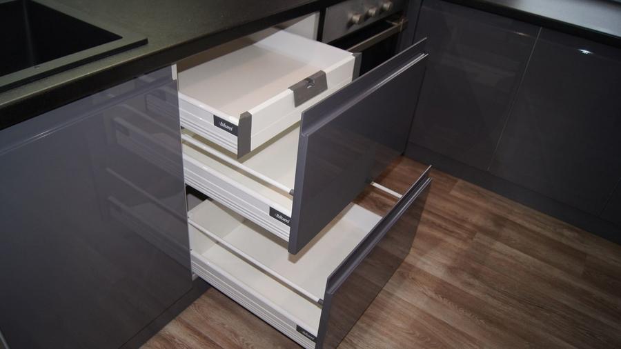 Глянцевые кухни-Кухня МДФ в эмали «Модель 285»-фото6