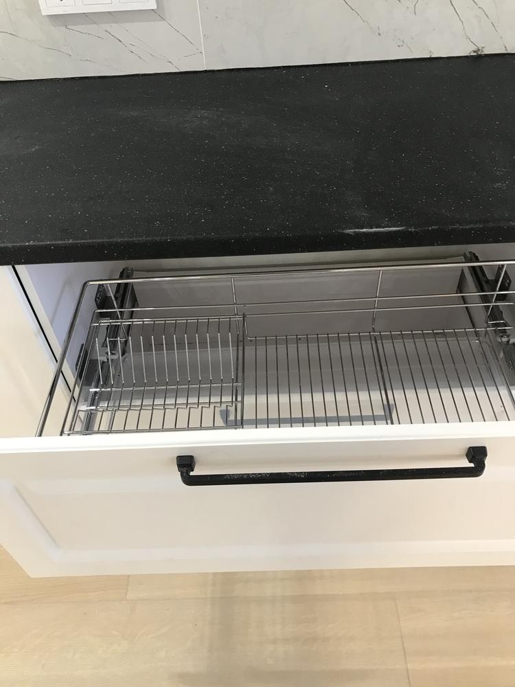 Белый кухонный гарнитур-Кухня МДФ в ПВХ «Модель 553»-фото12