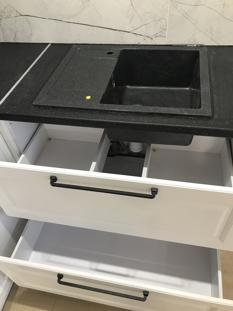 Белый кухонный гарнитур-Кухня МДФ в ПВХ «Модель 553»-фото14