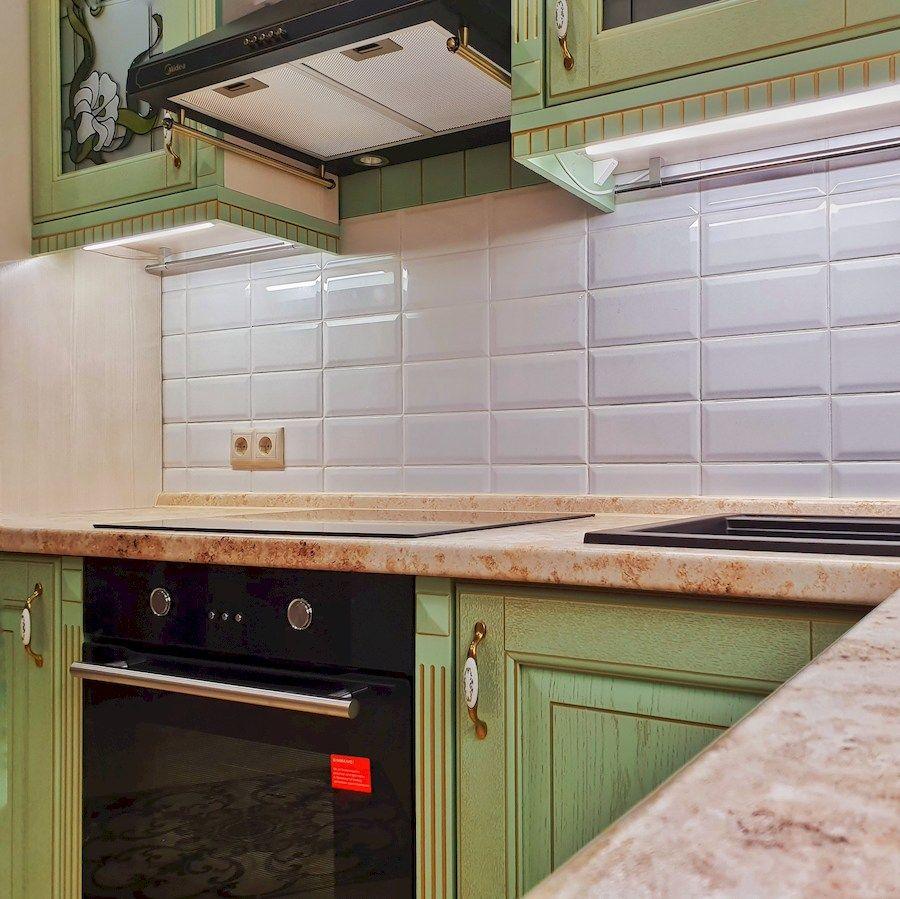 Классические кухни-Кухня из шпона «Модель 559»-фото4