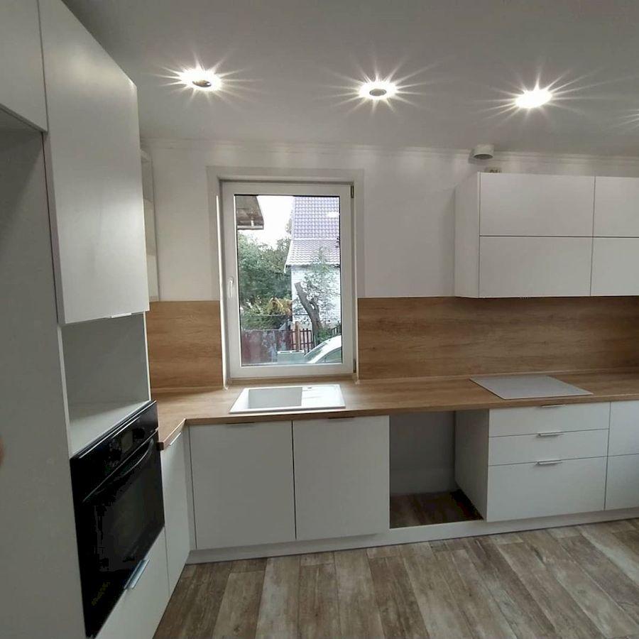 Белый кухонный гарнитур-Кухня МДФ в ПВХ «Модель 672»-фото2