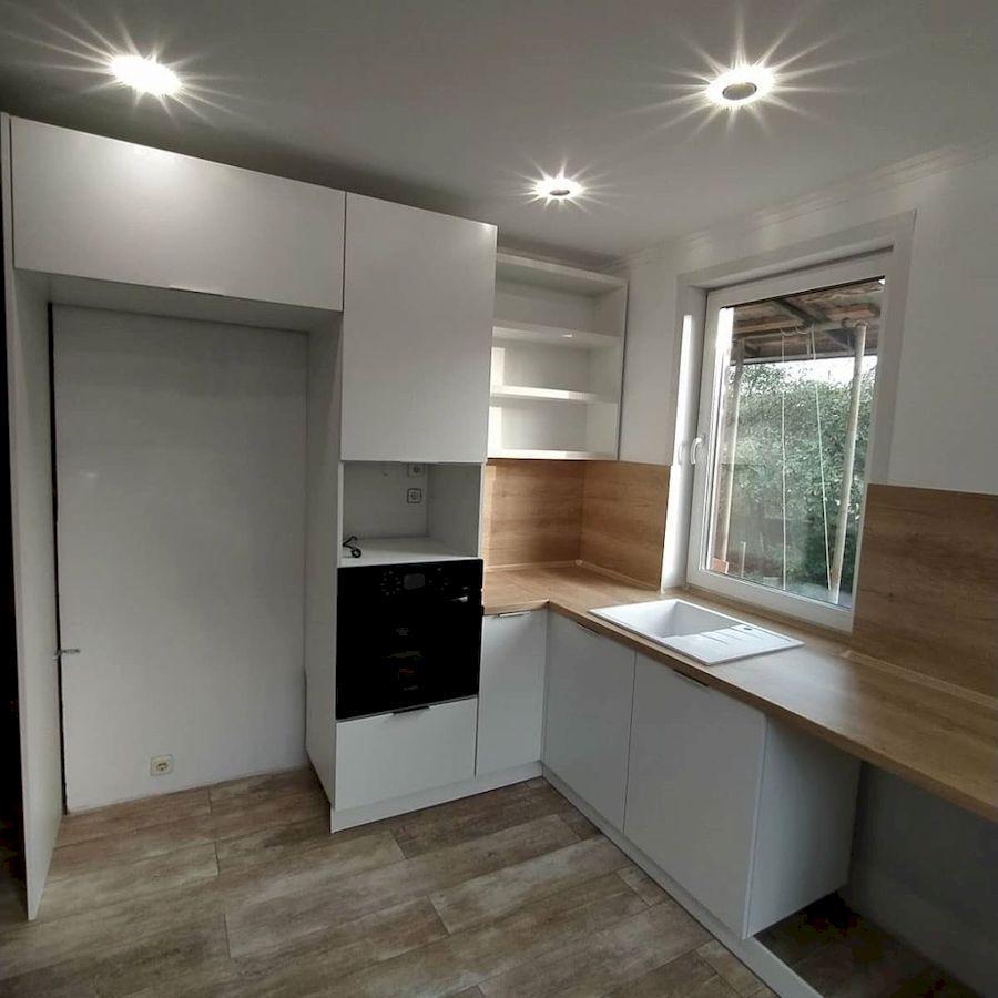Белый кухонный гарнитур-Кухня МДФ в ПВХ «Модель 672»-фото3