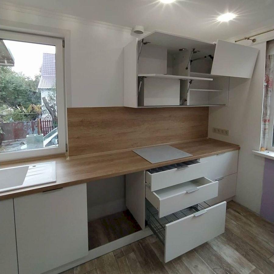 Белый кухонный гарнитур-Кухня МДФ в ПВХ «Модель 672»-фото4