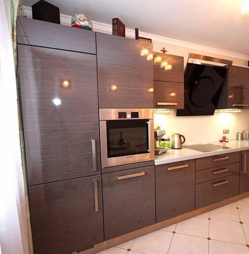 Встроенная кухня-Кухня МДФ в ПВХ «Модель 116»-фото3